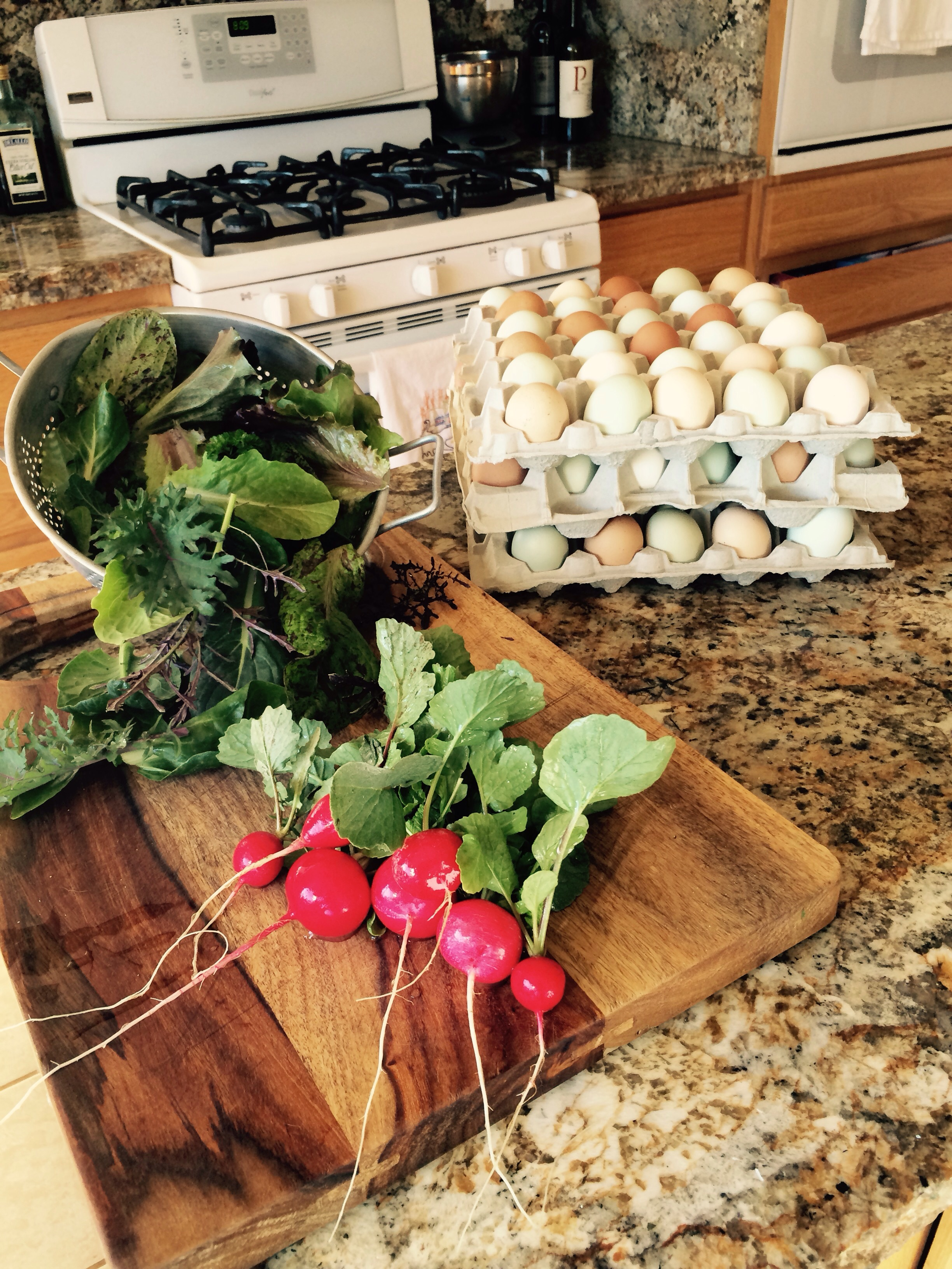 Farm fresh organic pastured egggs available we will have some at classic realty on postal road $6 per dozen or $15 per flat see Michael Griffin