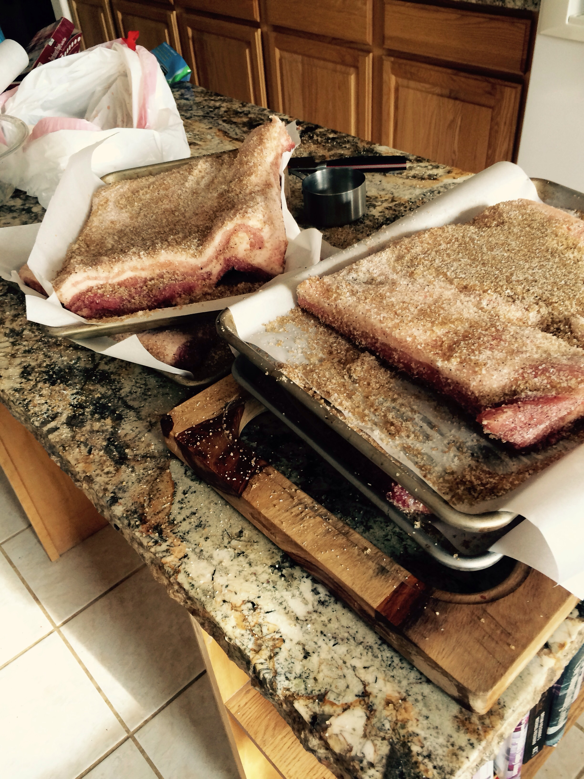 We try and use as much the whole animal as possible I am organic curing 30 pounds of beacon and making broth with pork bones