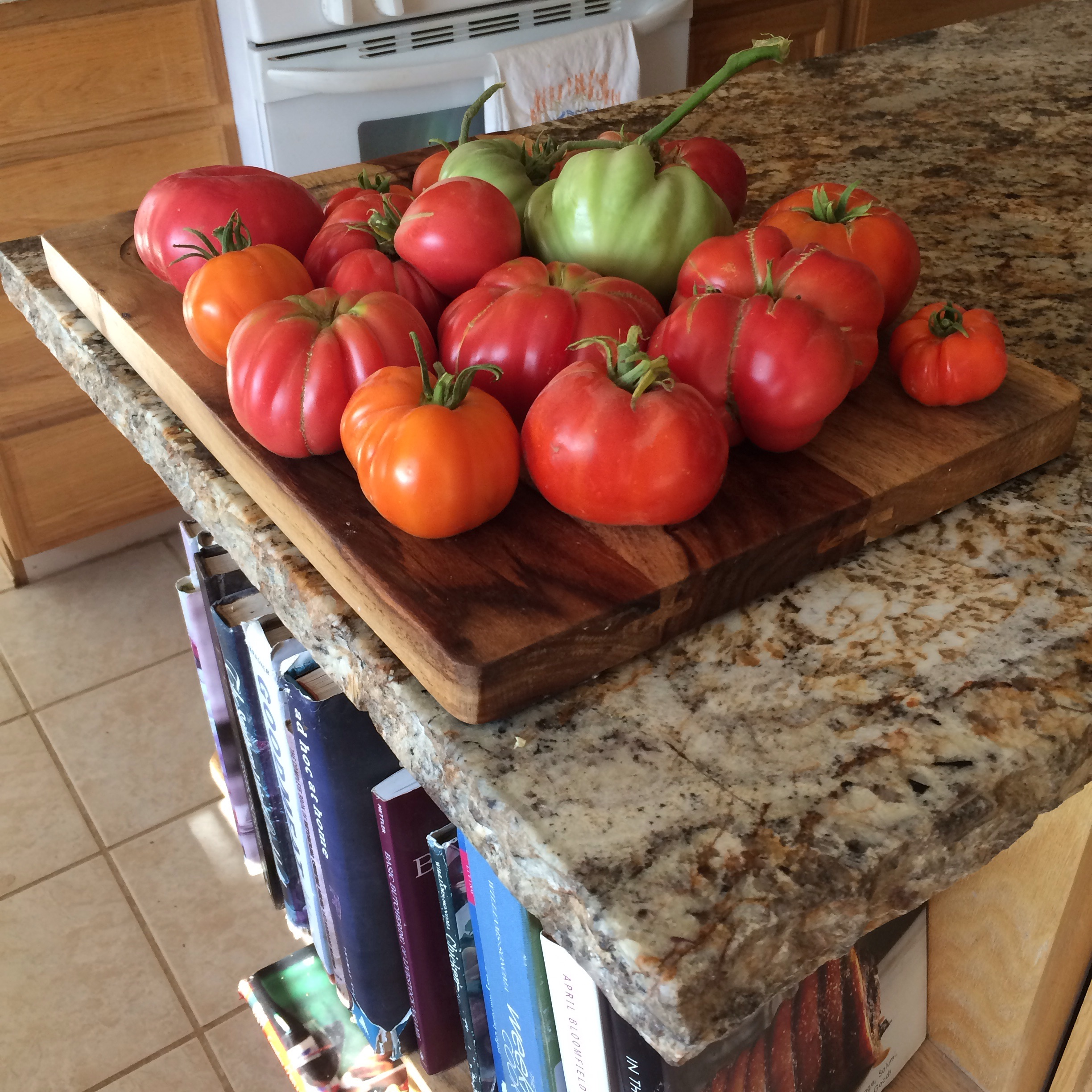 We are getting more and more heirloom tomatoes each day